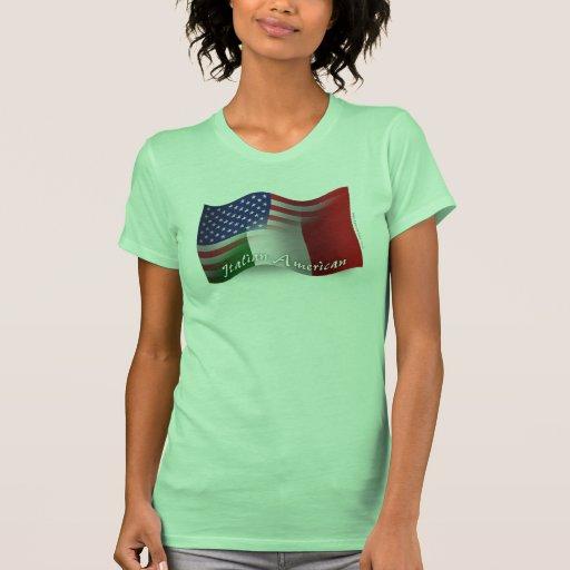 Italian-American Waving Flag Tee Shirt