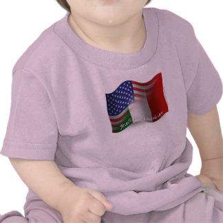 Italian-American Waving Flag Shirts