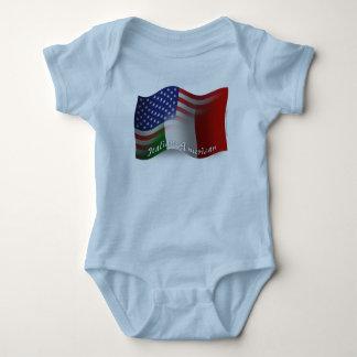 Italian-American Waving Flag T Shirts