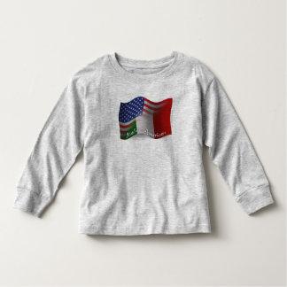 Italian-American Waving Flag T-shirt