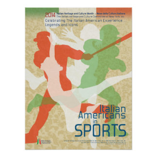 Italian Americans in Sports Poster