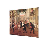 Italian and French Comedians Gallery Wrap Canvas