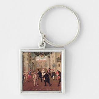 Italian and French Comedians Keychain