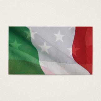 Italian and USA flags business card