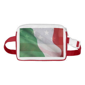 Italian and USA flags Waist Bag