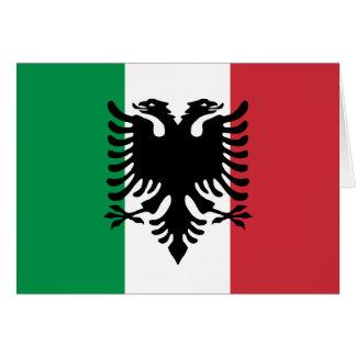 Italian Arberesh, Italy flag Greeting Card