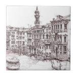 Italian architecture drawings ceramic tiles