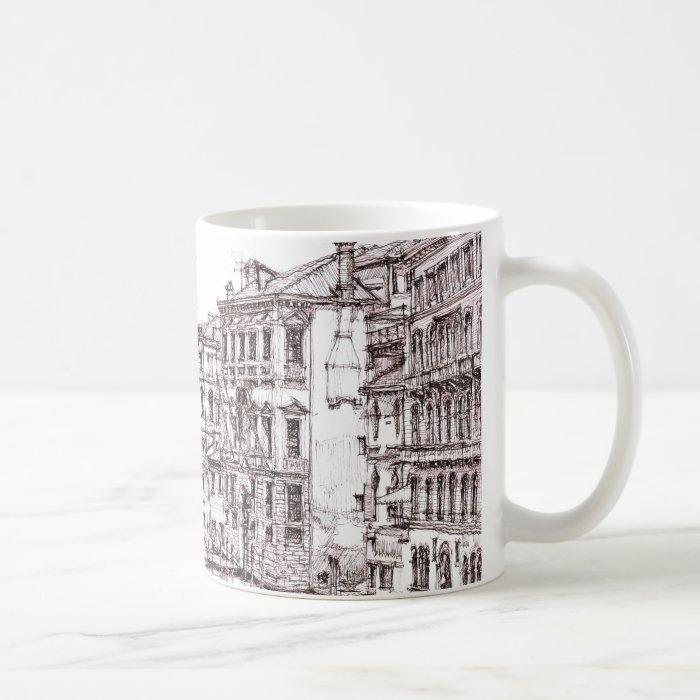 Italian architecture drawings coffee mug