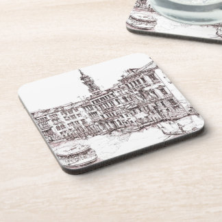Italian architecture drawings drink coaster