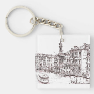 Italian architecture drawings keychain