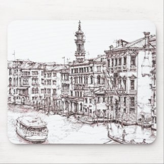 Italian architecture drawings mouse pad
