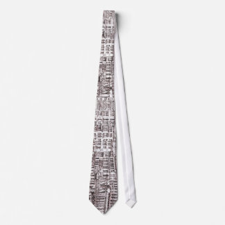 Italian architecture drawings neck tie