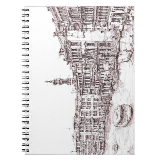 Italian architecture drawings notebook