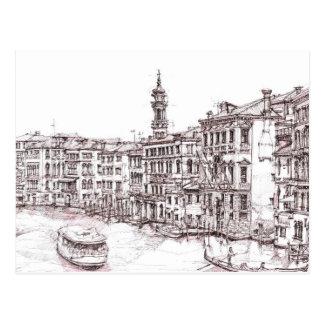 Italian architecture drawings postcard