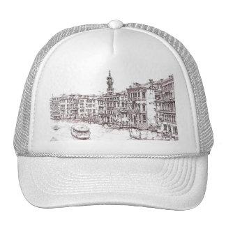 Italian architecture drawings trucker hat