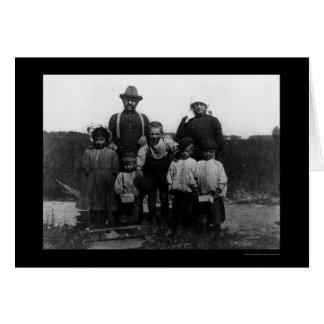 Italian Arnao Family of Berry Pickers 1910 Greeting Card