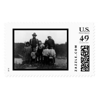 Italian Arnao Family of Berry Pickers 1910 Postage Stamps
