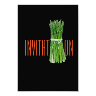 Italian Asparagus Chic Restaurant Food Invitation