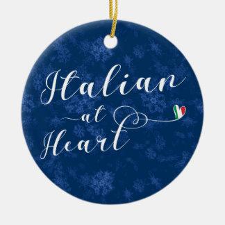 Italian At Heart, Christmas Tree Ornament, Italy Ceramic Ornament