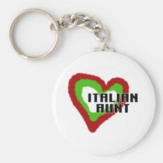 Italian Aunt Basic Round Button Keychain