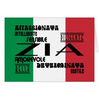 Italian Aunts : Qualities Card