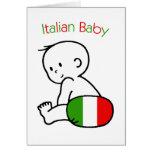 Italian Baby Greeting Card