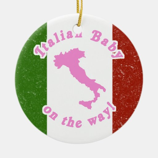 Italian baby on the way ornament zazzle - Ornament tapete weiay ...
