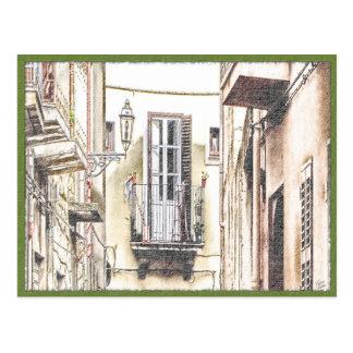 Italian Balcony Postcard