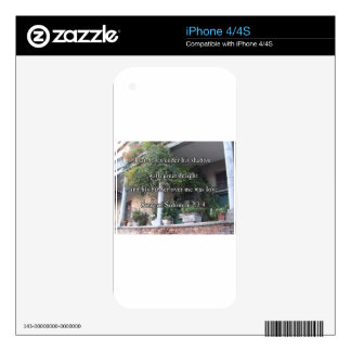 Italian Balcony with Scripture Verse Skins For iPhone 4