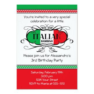 Italian Bambino (C) Birthday Party Invitation
