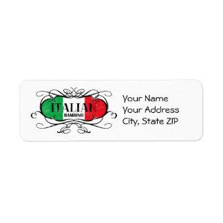 Italian Bambino (D) Label
