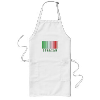 italian barcode design apron