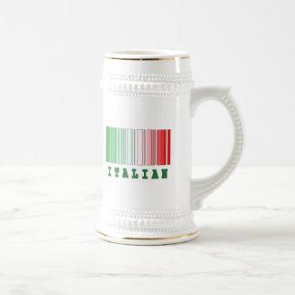 italian barcode design mugs
