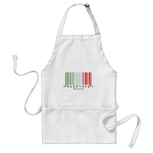 Italian Barcode Flag Adult Apron