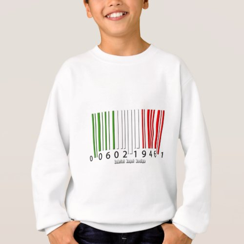 Italian Barcode Flag Sweatshirt