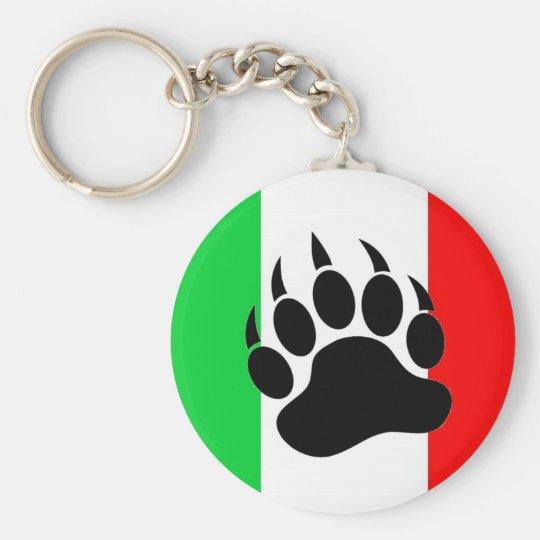 Italian Bear Pride Keychain