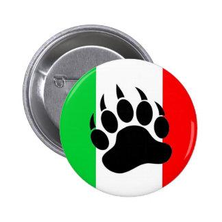 Italian Bear Pride Pinback Button