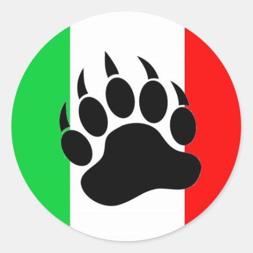 Italian Bear Pride Sticker