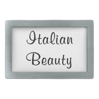 ITALIAN BEAUTY RECTANGULAR BELT BUCKLE