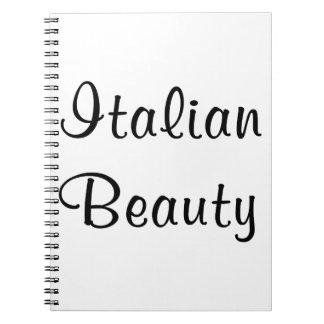 Italian Beauty Spiral Notebook