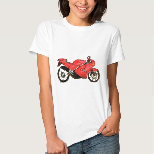 Italian Bike in Red Tee Shirt