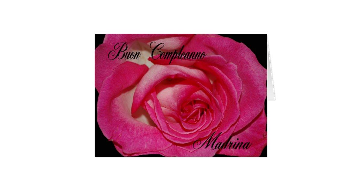 italian birthday card for godmother  zazzle, Birthday card