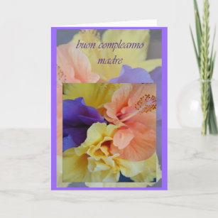 Italian Moms Birthday Cards Greeting Photo Cards Zazzle