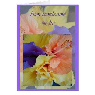 Italian Birthday Card For Mom