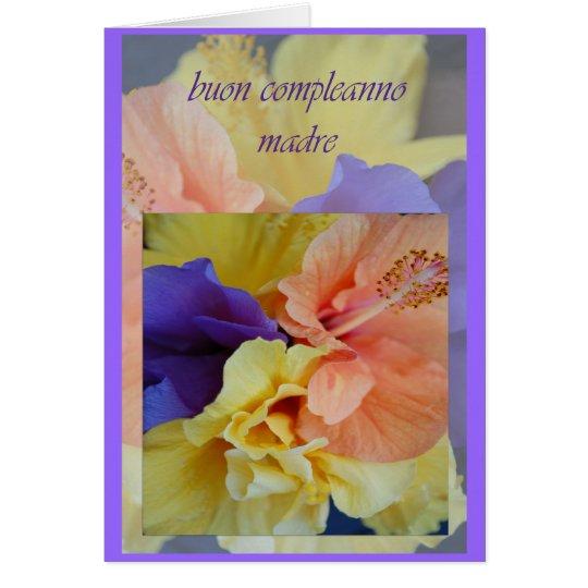 italian birthday card for mom  zazzle, Birthday card