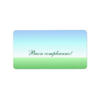 Italian Birthday Green Blue Label