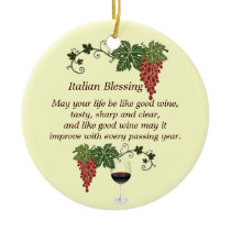 Italian Blessing Ceramic Ornament