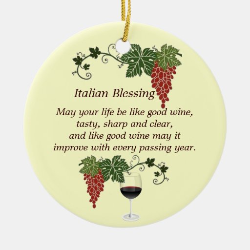 Italian Blessing Christmas Tree Ornaments