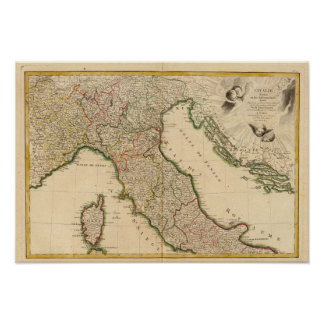 Italian Boarder Coutries Poster