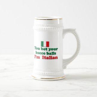 Italian Bocce Balls 18 Oz Beer Stein